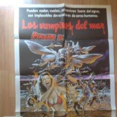 Cine: POS-1-POSTER DE LA PELICULA Y CLICHE - LOS VAMPIROS DEL MAR, PIRAÑA II. Lote 208728503