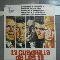 Cine: CDO 3271 LA CUADRILLA DE LOS ONCE FRANK SINATRA POSTER ORIGINAL 70X100 R-72. Lote 208750538