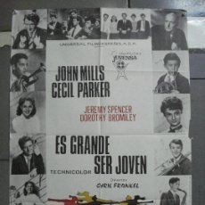 Cine: CDO 3274 ES GRANDE SER JOVEN JOHN MILLS POSTER ORIGINAL 70X100 ESPAÑOL. Lote 208755045