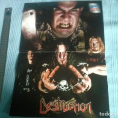 Cine: POSTER DE DESTRUCTION DE LA REVISTA HEAVY-ROCK AÑO 2000 . 27CMX 40CM. Lote 208793437