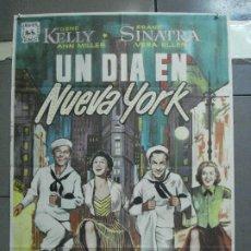 Cine: CDO 3302 UN DIA EN NUEVA YORK GENE KELLY FRANK SINATRA ALVARO POSTER ORIGINAL 70X100 ESPAÑOL R-68. Lote 208847653