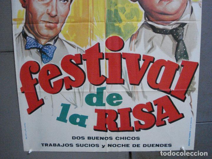 Cine: CDO 3304 FESTIVAL DE LA RISA STAN LAUREL OLIVER HARDY POSTER ORIGINAL 70x100 ESPAÑOL - Foto 3 - 208848303