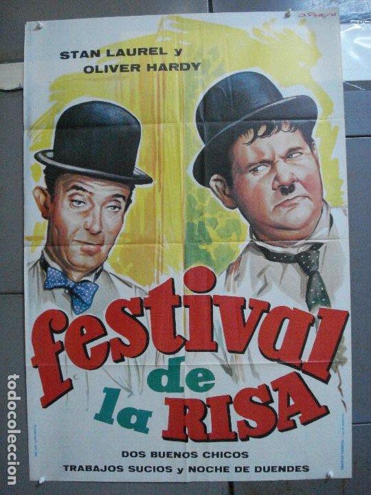 CDO 3304 FESTIVAL DE LA RISA STAN LAUREL OLIVER HARDY POSTER ORIGINAL 70X100 ESPAÑOL (Cine - Posters y Carteles - Comedia)