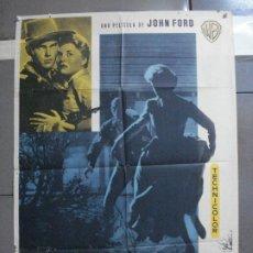 Cinema: CDO 3313 EL SARGENTO NEGRO JOHN FORD JEFFREY HUNTER POSTER ORIGINAL ESTRENO 70X100. Lote 208854365
