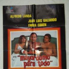 Cine: PÓSTER ORIGINAL MAYORDOMO PARA TODO 1976 ALFREDO LANDA. Lote 208857515