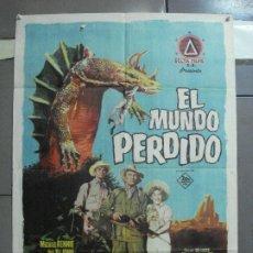 Cine: CDO 3339 EL MUNDO PERDIDO IRWIN ALLEN ARTHUR CONAN DOYLE POSTER ORIGINAL 70X100 ESTRENO. Lote 208867135