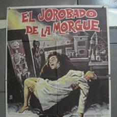 Cinema: CDO 3347 EL JOROBADO DE LA MORGUE PAUL NASCHY MONTALBAN POSTER ORIGINAL 70X100 ESTRENO. Lote 208871725
