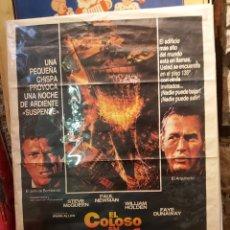 Cine: ANTIGUO CARTEL DE CINE EL COLOSO EN LLAMAS. Lote 208920713