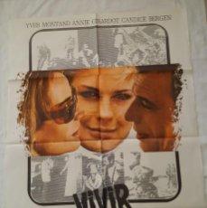 Cine: PÓSTER ORIGINAL VIVIR PARA VIVIR 1976. Lote 208946225