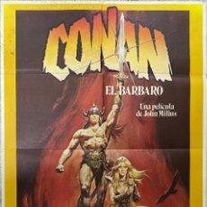 Cine: CARTEL DE CINE. CONAN EL BARBARO. JOHN MILIUS. ARNOLD SCHWARZENEGGER. MEDIDAS 70 X 100 CM. Lote 209109820