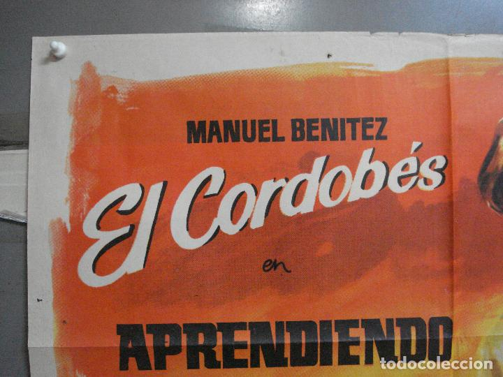 Cine: CDO 3360 APRENDIENDO A MORIR MANUEL BENITEZ EL CORDOBES LAZAGA TOROS POSTER ORIGINAL 70X100 ESTRENO - Foto 2 - 209110433