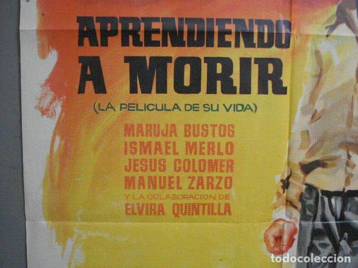 Cine: CDO 3360 APRENDIENDO A MORIR MANUEL BENITEZ EL CORDOBES LAZAGA TOROS POSTER ORIGINAL 70X100 ESTRENO - Foto 3 - 209110433