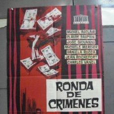 Cine: CDO 3365 SINFONIA PARA UN MASACRE RONDA DE CRIMENES MICHELE MERCIER ROCHEFORT POSTER 70X100 ESTRENO. Lote 209112357