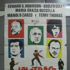 Cine: CDO 3366 UN ATRACO DE IDA Y VUELTA EDWARD G. ROBINSON MANOLO ZARZO POSTER ORIGINAL 70X100 ESTRENO. Lote 209112610