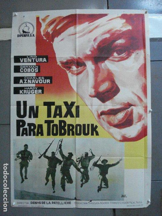 CDO 3380 UN TAXI PARA TOBRUK LINO VENTURA GERMAN COBOS HARDY KRUGER POSTER ORIGINAL ESTRENO 70X100 (Cine - Posters y Carteles - Bélicas)