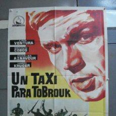 Cine: CDO 3380 UN TAXI PARA TOBRUK LINO VENTURA GERMAN COBOS HARDY KRUGER POSTER ORIGINAL ESTRENO 70X100. Lote 209116818