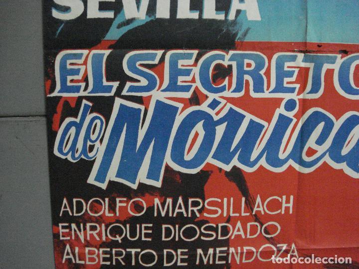Cine: CDO 3391 EL SECRETO DE MONICA CARMEN SEVILLA POSTER ORIGINAL 70X100 ESTRENO - Foto 3 - 209118482