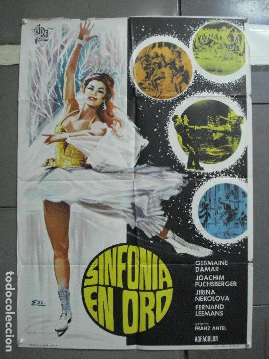 CDO 3398 SINFONIA EN ORO PATINAJE GERMAINE DAMAR JOACHIM FUCHSBERGER POSTER ORIGINAL 70X100 ESPAÑOL (Cine - Posters y Carteles - Deportes)