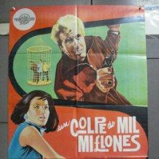 Cine: CDO 3402 UN GOLPE DE MIL MILLONES MARILU TOLO EDUARDO FAJARDO MARCO POSTER ORIGINAL 70X100 ESTRENO. Lote 209127262