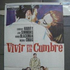 Cine: CDO 3410 VIVIR EN LA CUMBRE LAURENCE HARVEY JEAN SIMMONS POSTER ORIGINAL 70X100 ESTRENO. Lote 209132091