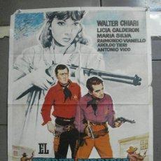 Cine: CDO 3422 EL SHERIFF TERRIBLE LICIA CALDERON MARIA SILVA SPAGHETTI POSTER ORIGINAL ESPAÑOL 70X100. Lote 209222206