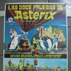 Cine: CDO 3428 LAS DOCE PRUEBAS DE ASTERIX ALBERT UDERZO RENE GOSCINNY POSTER ORIGINAL 70X100 ESTRENO. Lote 209235200