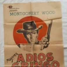 Cine: PÓSTER ORIGINAL ADIÓS GRINGO (1966). Lote 209256140