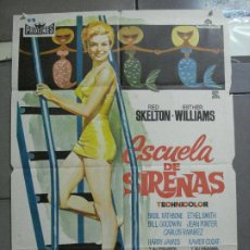 Cine: CDO 3449 ESCUELA DE SIRENAS ESTHER WILLIAMS POSTER ORIGINAL 70X100 ESPAÑOL R-66. Lote 209261006