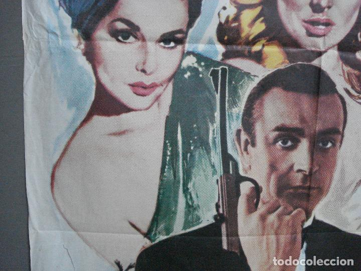 Cine: AAH75 AGENTE 007 CONTRA EL DR NO JAMES BOND SEAN CONNERY POSTER ORIGINAL 70X100 ESPAÑOL R-74 - Foto 3 - 209268092
