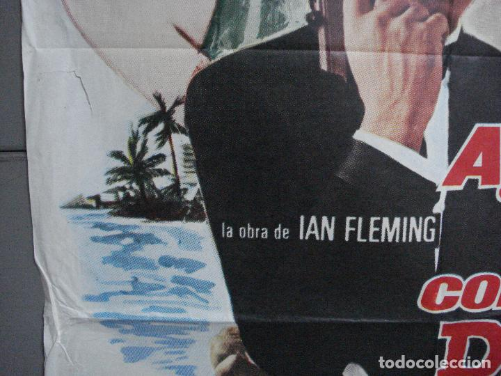 Cine: AAH75 AGENTE 007 CONTRA EL DR NO JAMES BOND SEAN CONNERY POSTER ORIGINAL 70X100 ESPAÑOL R-74 - Foto 4 - 209268092