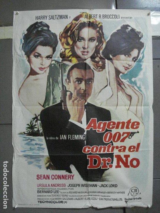 AAH75 AGENTE 007 CONTRA EL DR NO JAMES BOND SEAN CONNERY POSTER ORIGINAL 70X100 ESPAÑOL R-74 (Cine - Posters y Carteles - Acción)