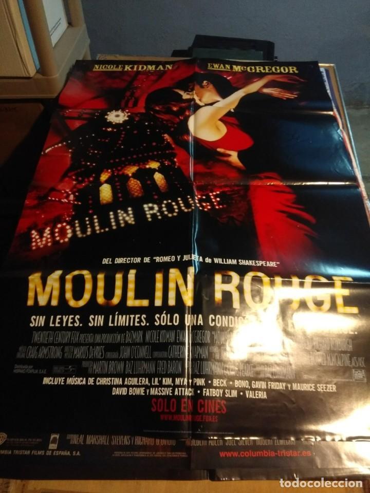 POSTER CINE : MOULIN ROUGE ( NICOLE KIDMAN & EWAN MCGREGOR ) (Cine - Posters y Carteles - Musicales)