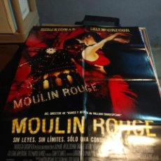 Cine: POSTER CINE : MOULIN ROUGE ( NICOLE KIDMAN & EWAN MCGREGOR ). Lote 209389770
