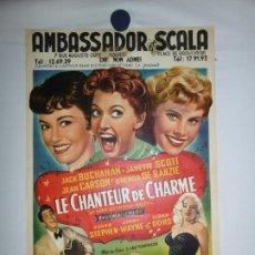 Cine: LE CHANTEUR DE CHARME (AS LONG AS THEY'RE HAPPY) - 1955 - 56 X 37. Lote 209404367