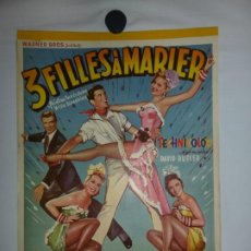 Cine: 3 FILLES AMARIER (PAINTING THE CLOTHES WITH SUNSHINE) - 1951 - 52 X 37. Lote 209408055