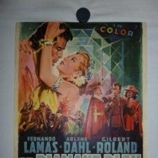 Cine: LE DIAMANT BLEU (THE DIAMOND QUEEN) - 1953 - 56 X 37. Lote 209409762