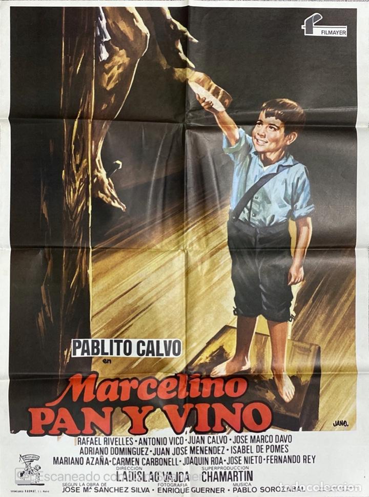 CARTEL ORIGINAL DE LA PELICULA MARCELINO PAN Y VINO. MEDIDAS APROX.: 100 X 70 CM. 1979. (Cine - Posters y Carteles - Clasico Español)