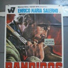 Cine: CDO 3464 BANDIDOS ENRICO MARIA SALERNO SPAGHETTI POSTER ORIGINAL 70X100 ESTRENO. Lote 209585983