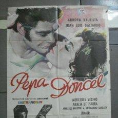 Cine: CDO 3469 PEPA DONCEL AURORA BAUTISTA JUAN LUIS GALIARDO POSTER ORIGINAL 70X100 ESTRENO. Lote 209588815