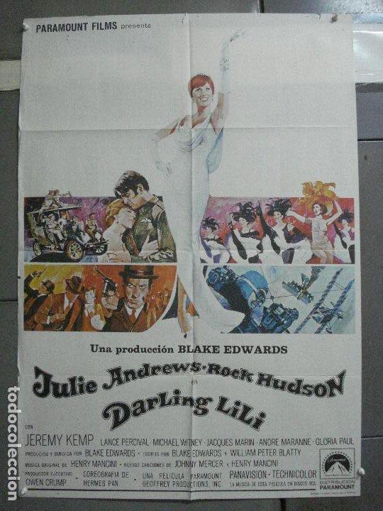 CDO 3481 DARLING LILI JULIE ANDREWS ROCK HUDSON POSTER ORIGINAL 70X100 ESTRENO (Cine - Posters y Carteles - Musicales)
