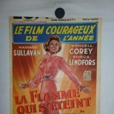 Cine: LA FLAMME QUI S'ETEINT (NO SAD SONGS FOR ME) - 1950 - 52 X 37. Lote 209641308