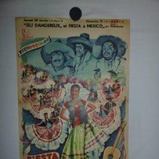 Cine: FIESTA A TE MEXICO - 1951 - 52 X 37. Lote 209645010