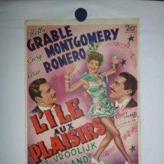 Cine: L'ILE AUX PLAISIRS (CONEY ISLAND) - 1943 - 52 X 37. Lote 209645627