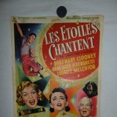 Cine: LES ETOILES CHANTENT - 1954 - 52 X 37. Lote 209645883