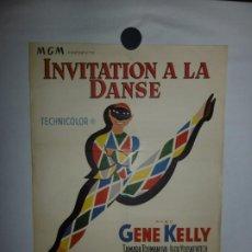 Cine: INVITATION A LA DANSE - 1956 - 56 X 37. Lote 209646017