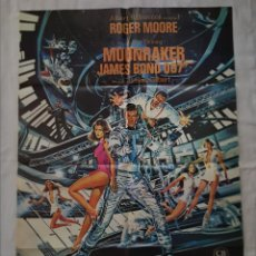Cinema: PÓSTER ORIGINAL MOONRAKER JAMES BOND 007 ROGER MOORE. Lote 209695502