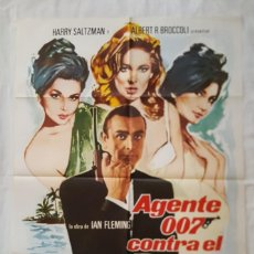 Cinema: PÓSTER ORIGINAL 007 CONTRA EL DR. NO (1974) 007 SEAN CONNERY. Lote 209698285