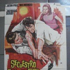 Cinema: CDO 3535 SECUESTRO BAJO EL SOL JEAN-PAUL BELMONDO POSTER ORIGINAL 70X100 ESTRENO. Lote 209709147