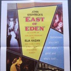 Cine: POSTER AL ESTE DEL EDEN - ELIA KAZAN. Lote 209748556
