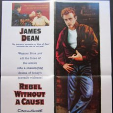 Cine: POSTER REBELDE SIN CAUSA - NICHOLAS RAY. Lote 209748706